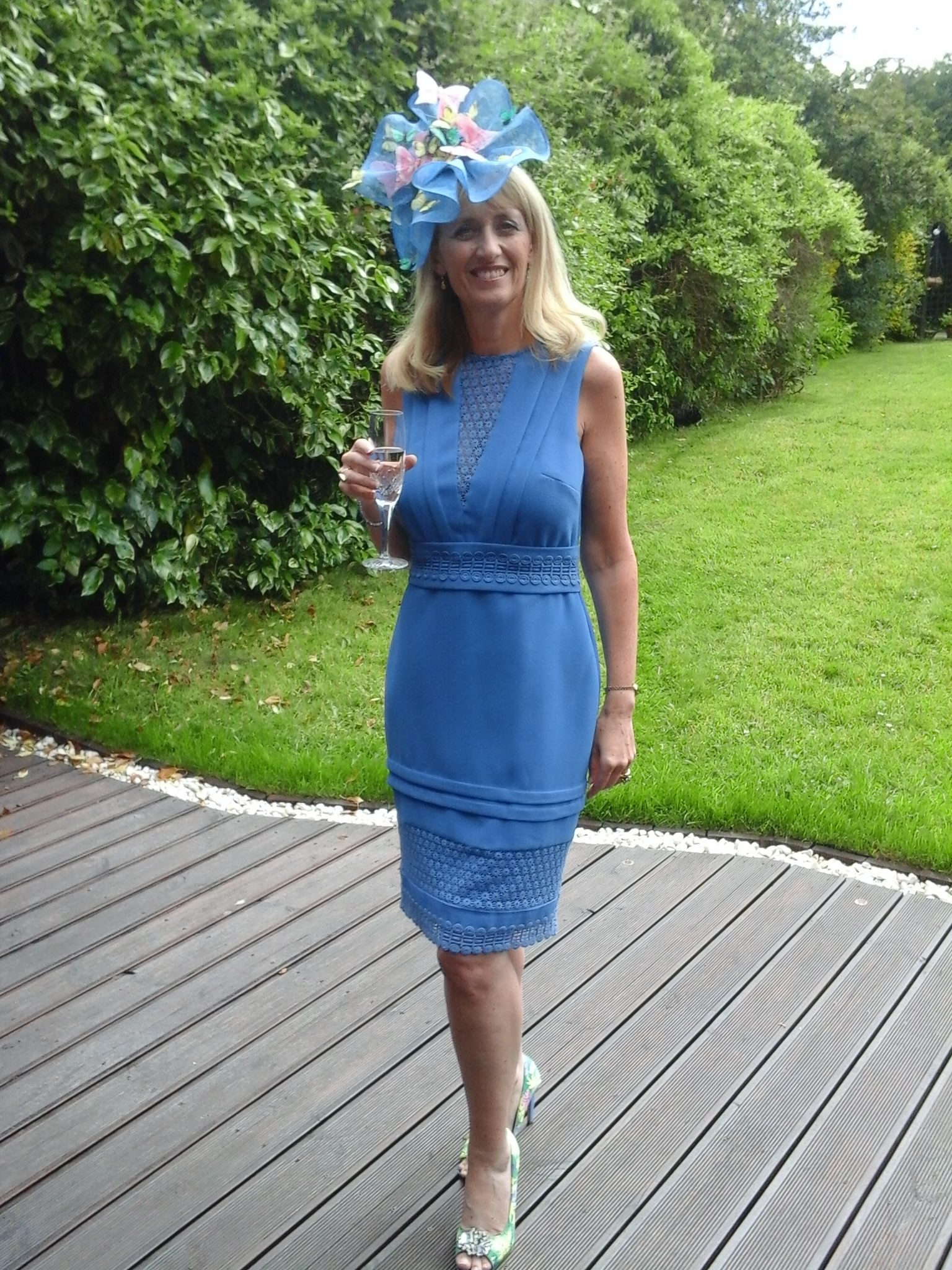 Pamela wore this block colour blue dress a34f616fb74